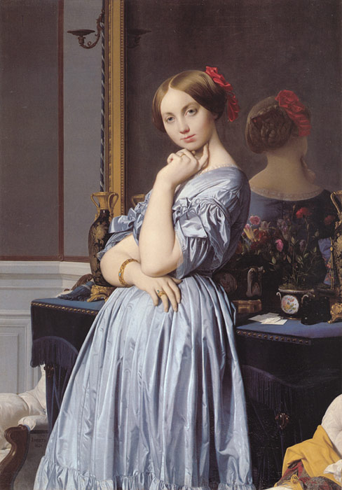Oil Painting Reproduction of Ingres- Vicomtess Othenin d Haussonville, nee Louise-Albertine de