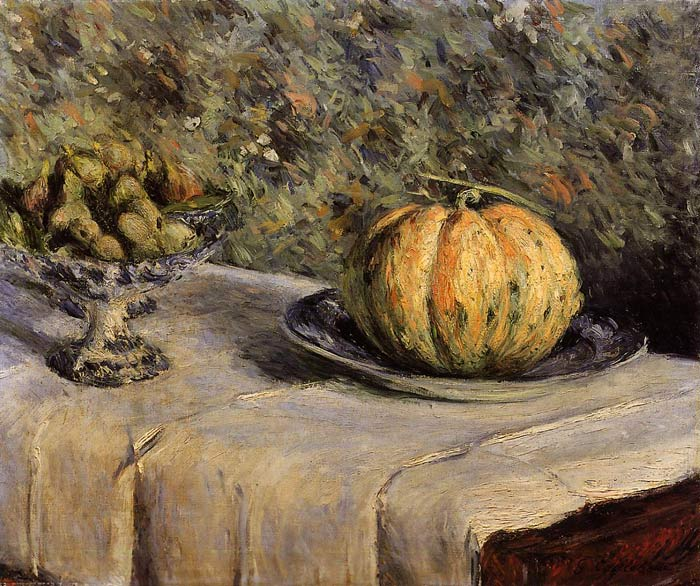 Oil Painting Reproduction of Caillebotte- Melon and Bowl of Figs