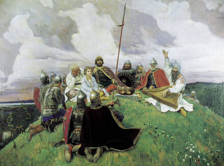 Oil Painting Reproduction of Vasnetsov - Communication