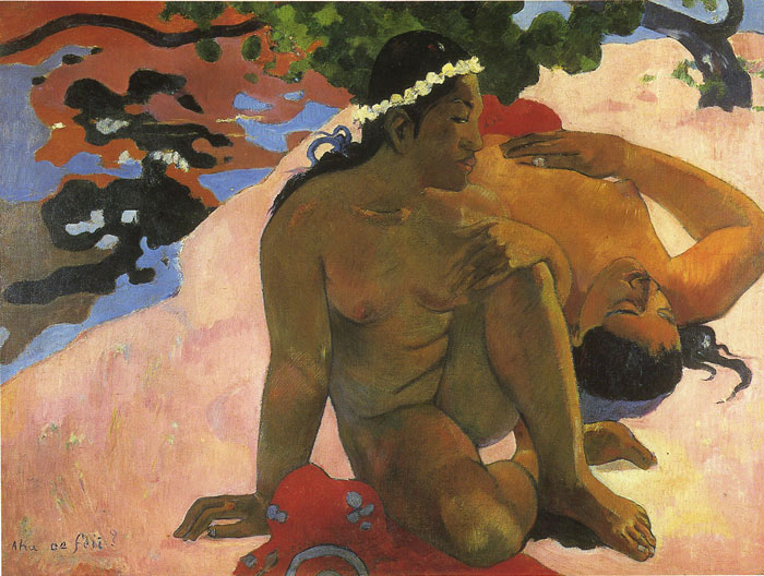 Gauguin Oil Painting Reproductions- Aha oe Feii (What Are You Jealous)