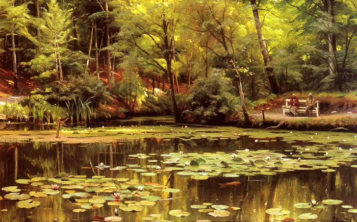 Oil Painting Reproduction of Monsted- Waterlilies