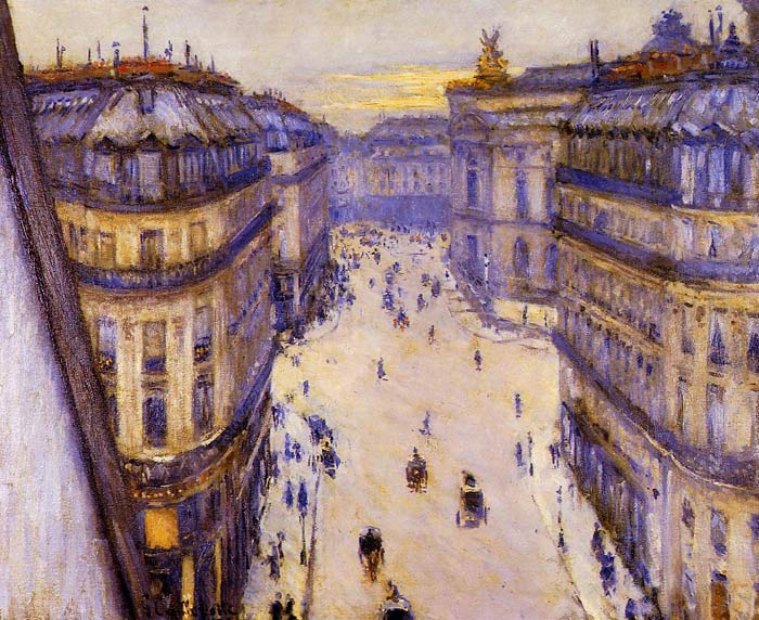 Caillebotte Oil Painting Reproductions- Rue Halevy, Seen from the Sixth Floor