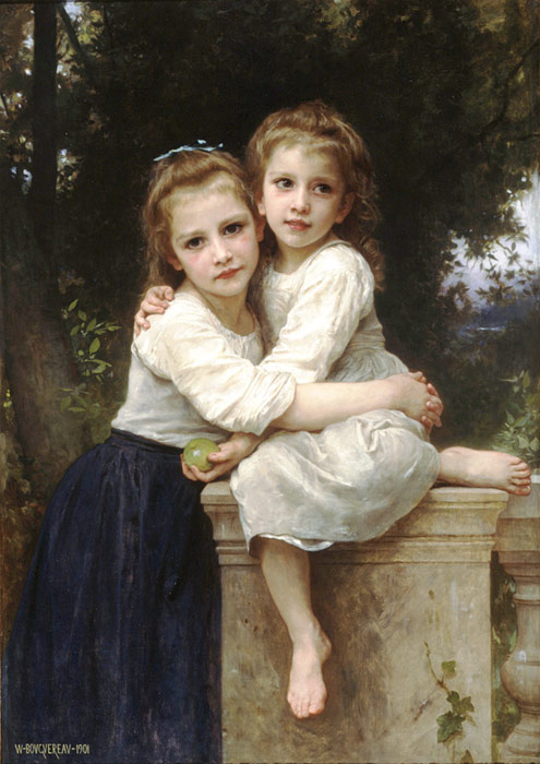 Oil Painting Reproduction of Bouguereau- Deux Soeurs [Two Sisters]