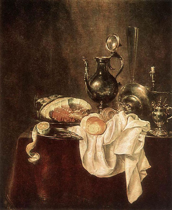 Oil Painting Reproduction of Heda- Ham and Silverware