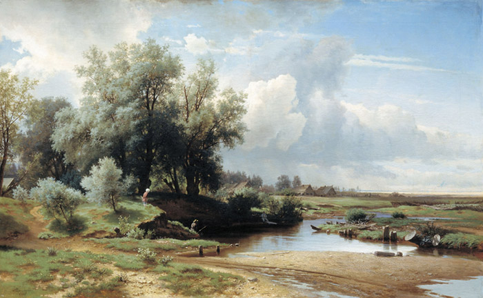 Oil Painting Reproduction of Kamenev - Landscape