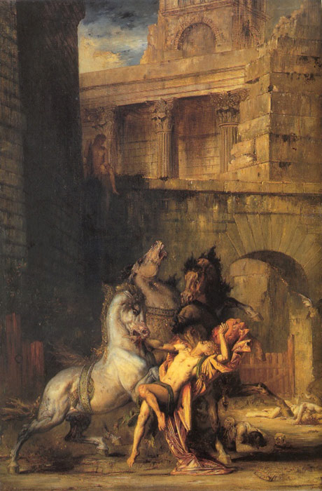 Oil Painting Reproduction of Moreau- Diomedes Devoured by his Horses