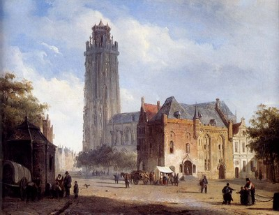 A Cathedral On A Townsquare In Summer