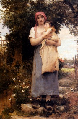 A Mother Holding Her Child