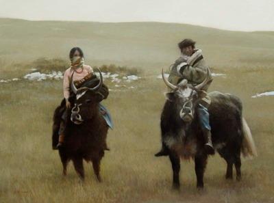 A Young Couple, Tibetan