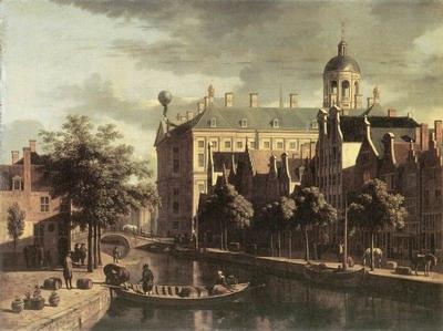 Amsterdam,The Nieuwezijds Near The Bloemmarkt