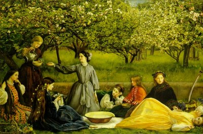 Apple blossoms, spring