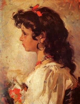 Cabeza de Italiana, head of a italian girl