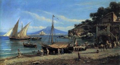 Figures on a Beach Near Naples