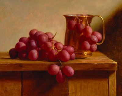 Grapes and a Copper Cup