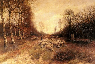 Grazing Sheep Near Laren
