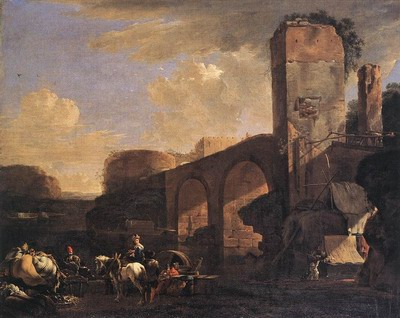 Italianate Landscape With River And An Arched Bridge