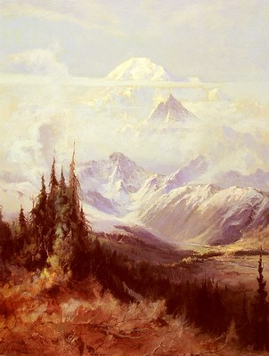 Mount McKinley In Mist
