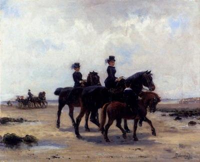Promenade Equestre Sur La Plage