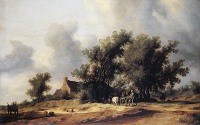 Road in the dunes with a passenger coach