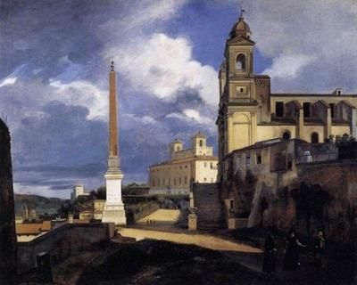 S. Trinita dei Monti and the Villa Medici, Rome