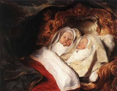 The Twins Clara And Aelbert De Bray