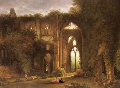 Tintern Abbey With Elegant Figures