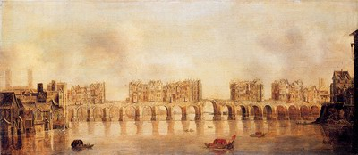 View Of Old London Bridge From The West