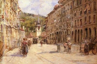 A Street Scene In Bern