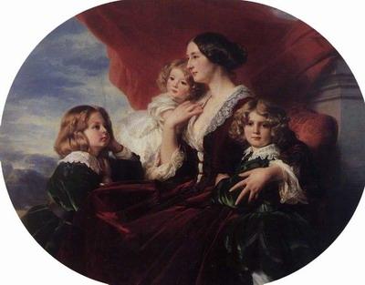 Elzbieta Branicka, Countess Krasinka and her Children