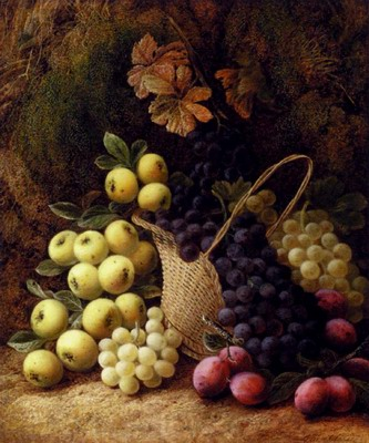 Still Life With Apples, Grapes And Plums