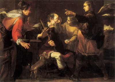 Tobias Healing The Blindness Of His Father