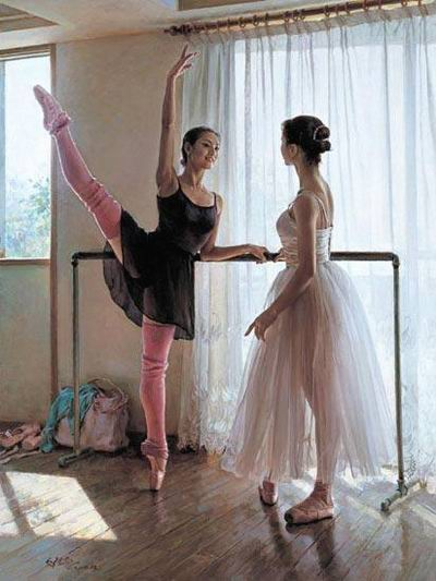 oil painting art ballet oil painting Ballet oil painting