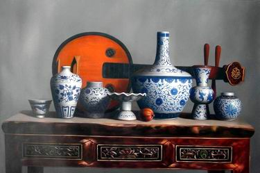 still life oil paintings of a series of china
