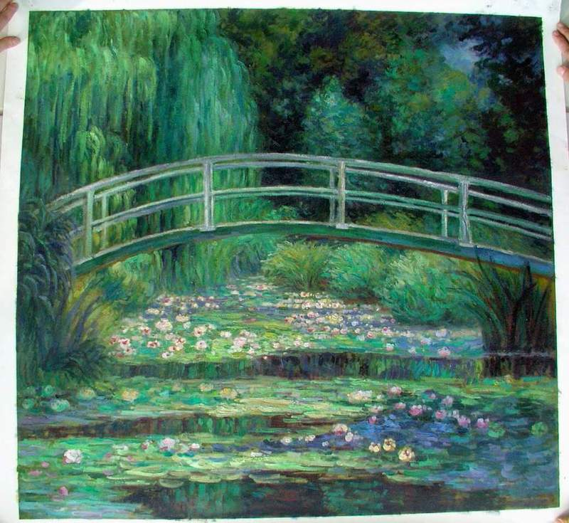 Oil Paintings Of Flower Gardens Painting Reproduction Garden
