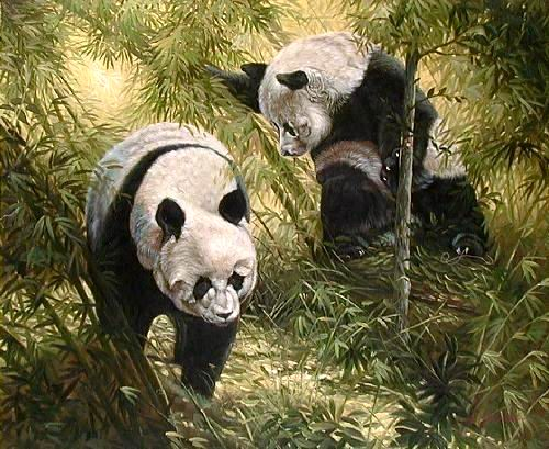 Art Oil Painting Animal oil painting picture Animal painting