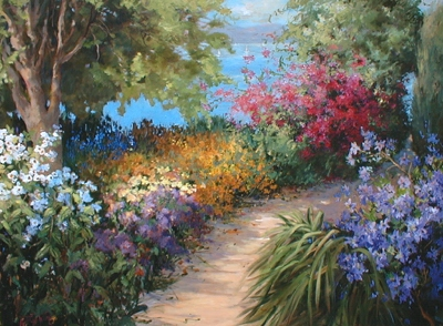 Oil Painting Reproductions Oil Painting Reproductions Garden oil painting