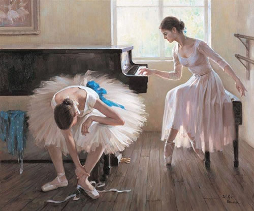 oil painting Ballet Painting Ballet oil painting