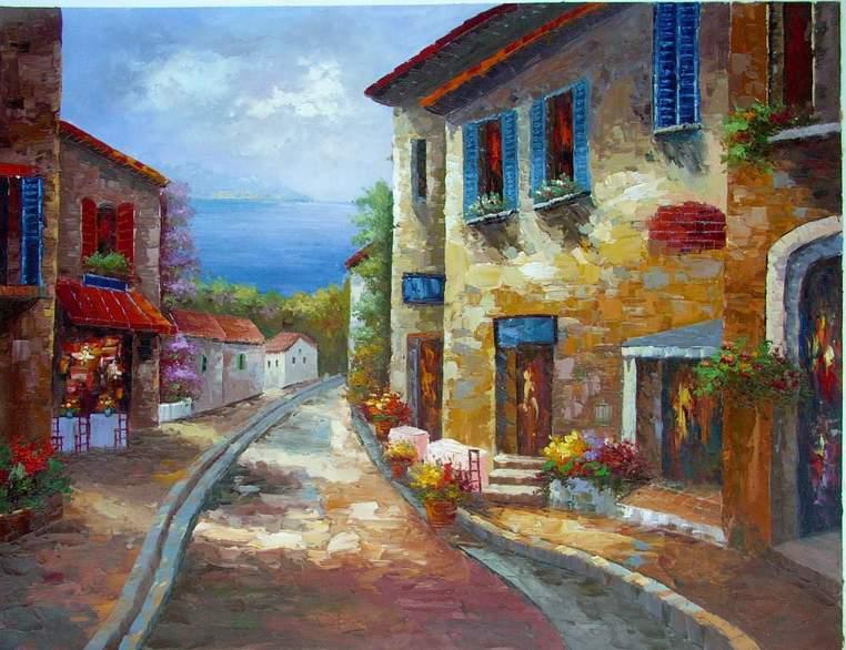 oil painting MediterraneanSea Mediterranean Sea oil painting