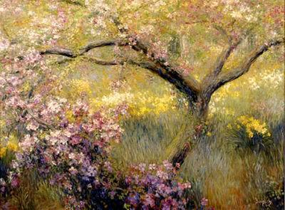 Simple Flower Garden Paintings oil paintings of flower gardens painting reproductions garden oil