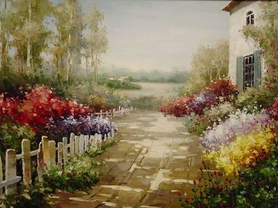 painting reproductions Garden Oil Paintings Garden oil painting