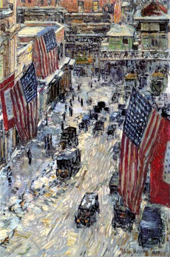 57th Street in Winter, Childe Hassam