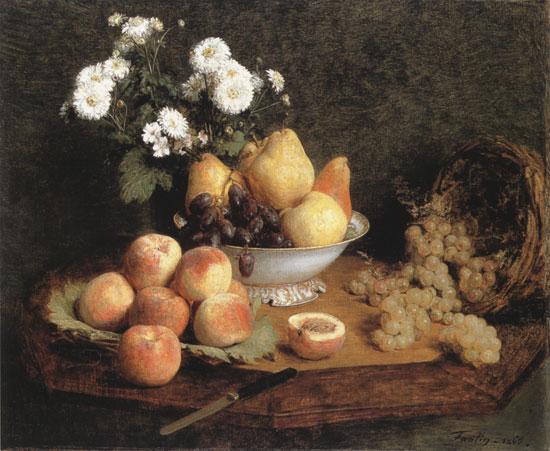 Flowers and Fruit-Henri Fantin-Latour