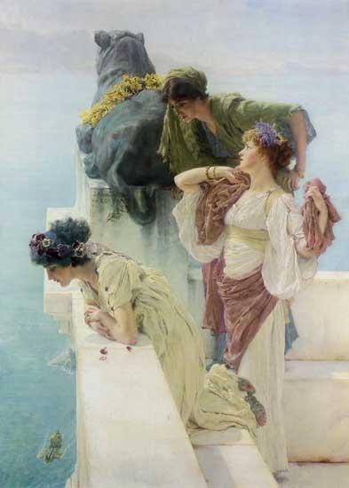 A Coign of Vantage, Sir Lawrence Alma-Tadema