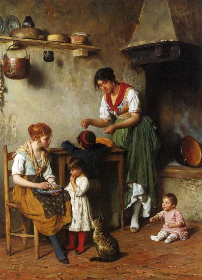 A Helping Hand, Eugene von Blaas