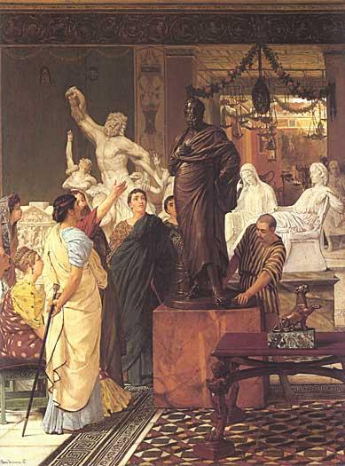 A Sculpture Gallery, Sir Lawrence Alma-Tadema