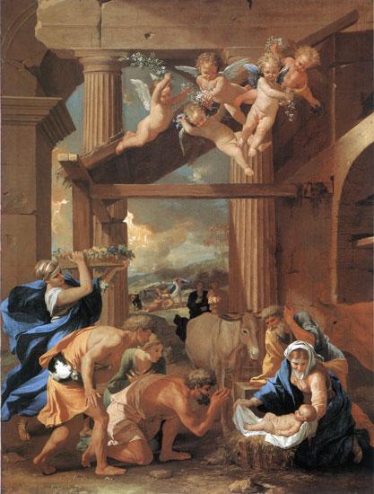 Adoration of the Shepherds, Nicolas Poussin