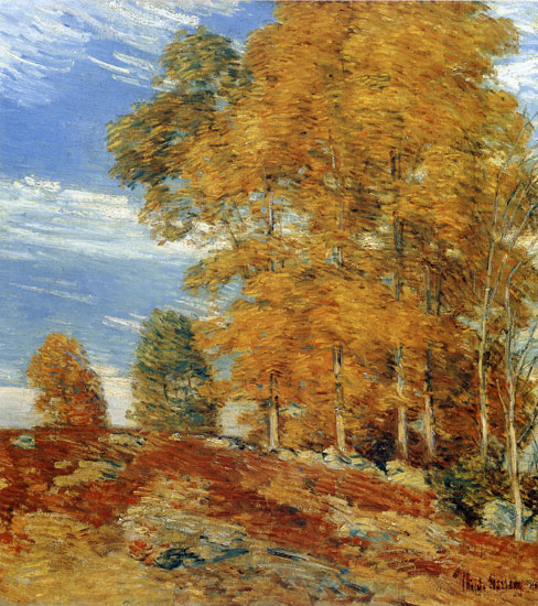 Autumn Hilltop, Childe Hassam