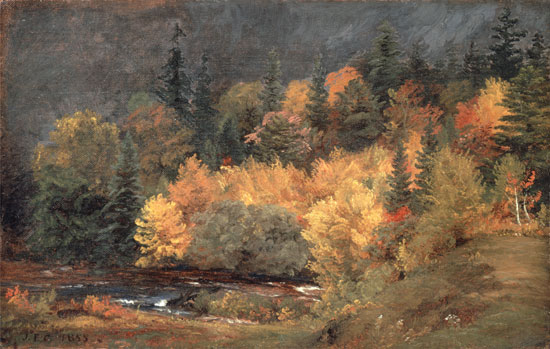 Autumn by the Brook, Jasper Francis Cropsey