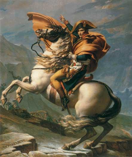 Bonaparte Crossing the Alps, Jacques Louis David