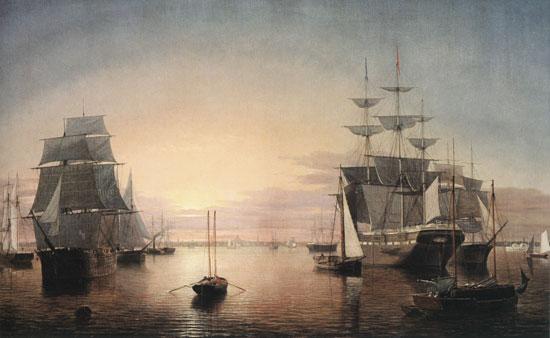 Boston Harbor at Sunset, Fitz Hugh Lane